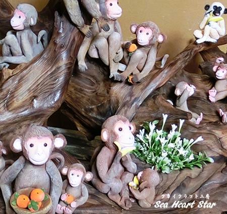猿さん達のアップ