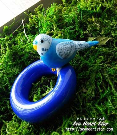 青のインコさん
