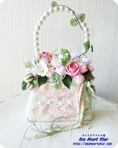 薔薇のバッグブーケ